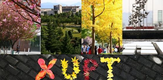 图说:西安邮电大学二十四节气校园风光